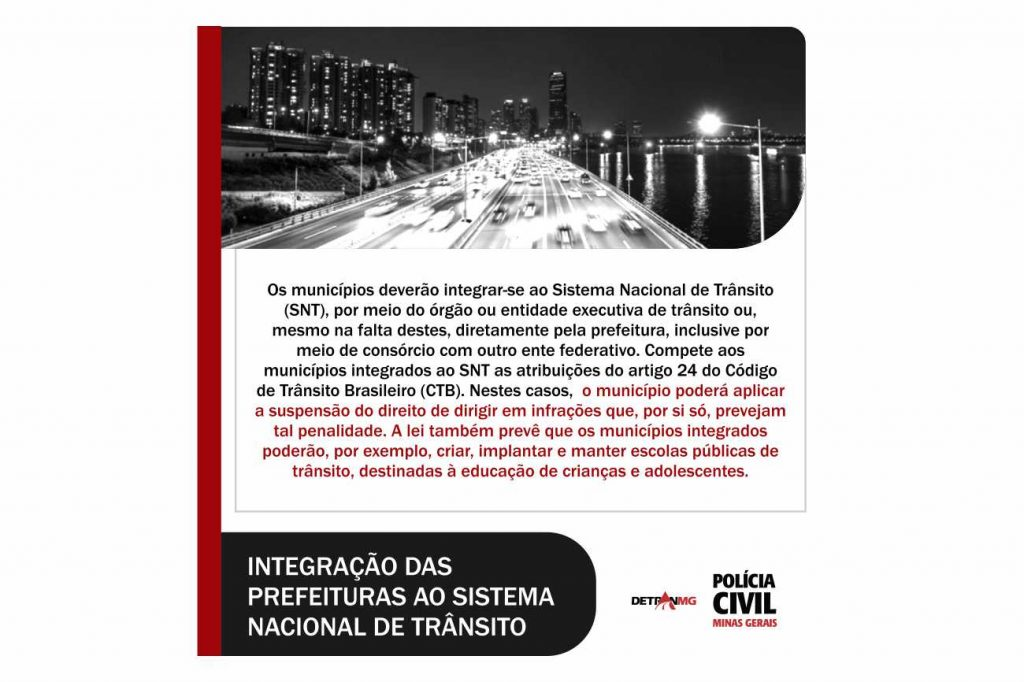 Integração das Prefeituras ao Sistema Nacional de Trânsito