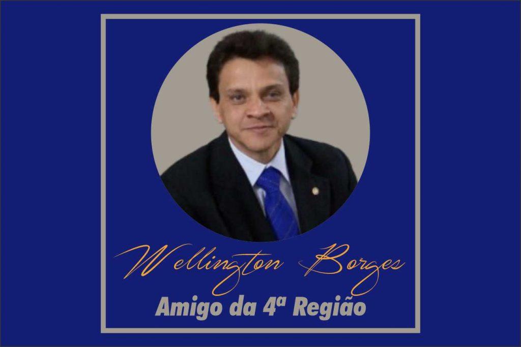"""Wellington Borges receberá diploma de """"Amigo da 4ª Região"""" dia 30"""