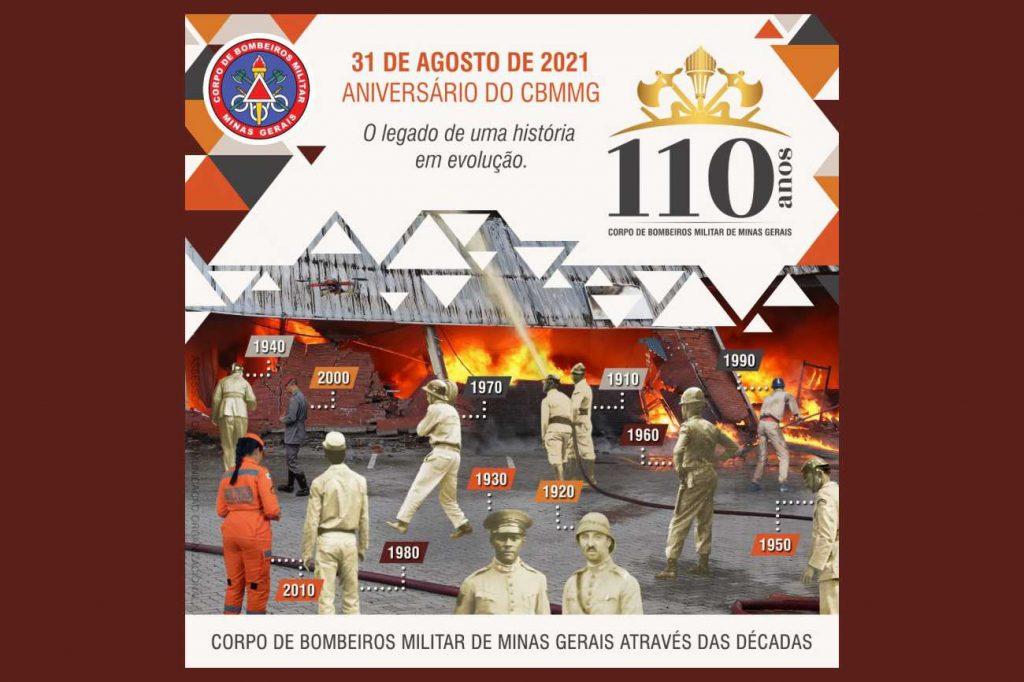 110 anos do Corpo de Bombeiros Militar de Minas Gerais